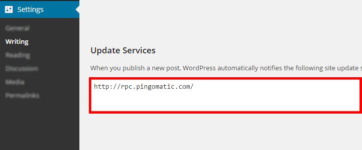 WordPress Ping List 2019